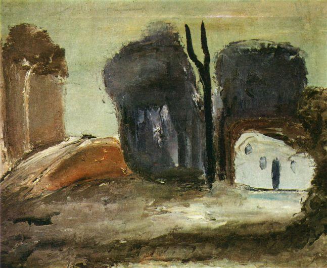 В 2012 году из квартиры-музея авангардиста Александра Древина украли несколько картин. Позднее две картины — «Охотник» и «Пейзаж с белым домом» (на фото) были обнаружены на антикварном рынке Москвы.