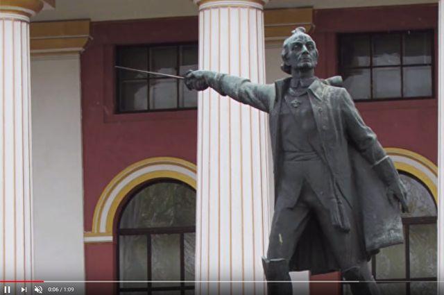 Памятник Александру Суворову на Украине.