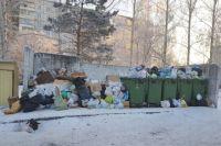 Во многих дворах мусор не вывозят неделями.