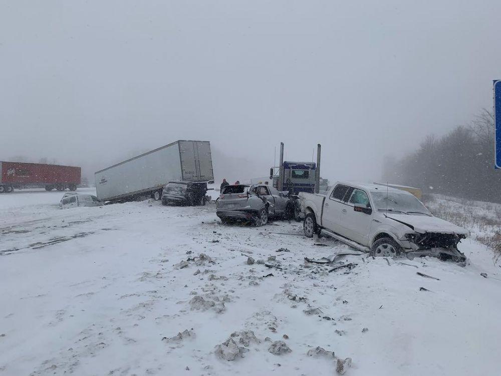Автомобильная авария в Гранд-Рапидсе в штате Мичиган.