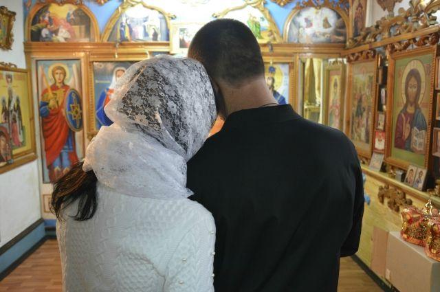 Обряд венчания в колонии Алтайского края