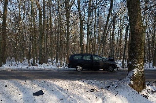 На трассе под Калининградом водитель без прав устроил ДТП