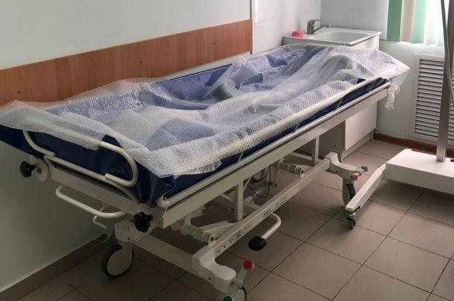 Кушетка для мытья лежачих больных в Плещеевской ЦРБ