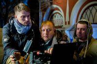 На съёмках фильма «Пусть будет Лиза» возле Гостиных рядов творческая группа выстраивает кадр.