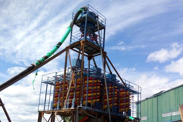 Обогатительный комплекс для переработки техногенных месторождений.