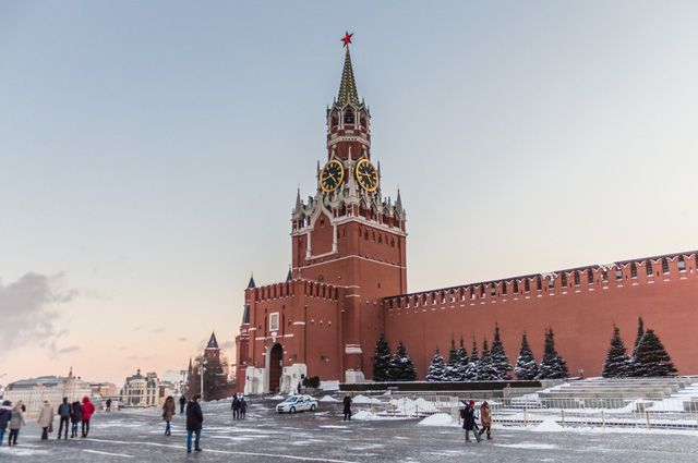 Спасская башня Московского Кремля.