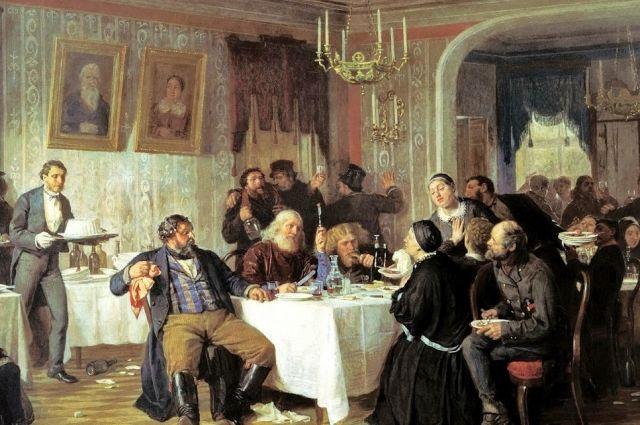 В вольных домах можно было пообедать и остаться на ночлег.