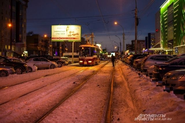 Трамвай сбил пешехода.