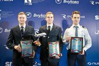 Победители конкурса «Лучший в небе» (слева направо) Михаил Орловский, Егор Ознобихин и Андрей Кондаков.