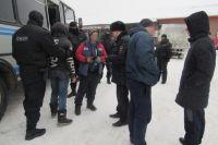 В Оренбурге на рынке задержаны нелегальные мигранты
