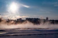 В Новосибирске держатся тридцатиградусные морозы.