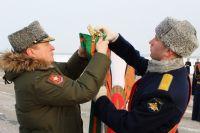 Новоуренгойцы поздравили авиаполк Челябинска, награжденный орденом Суворова