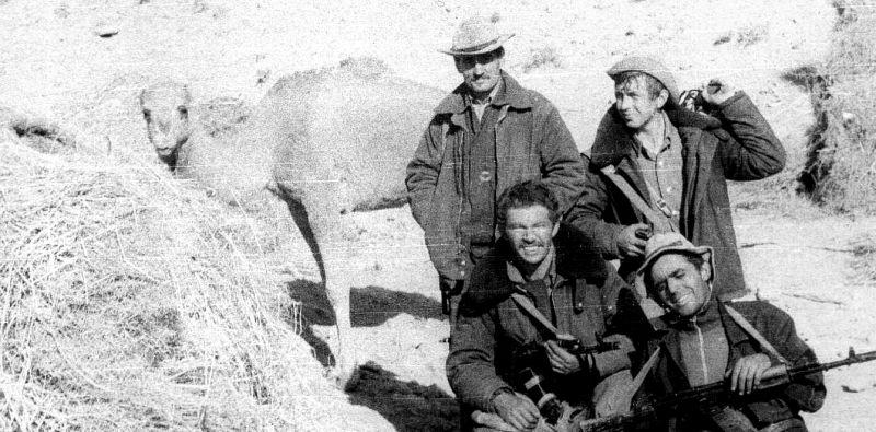 Андрей Викторович Черномуров с боевыми товарищами, провинция Кандагар, 1985 год.