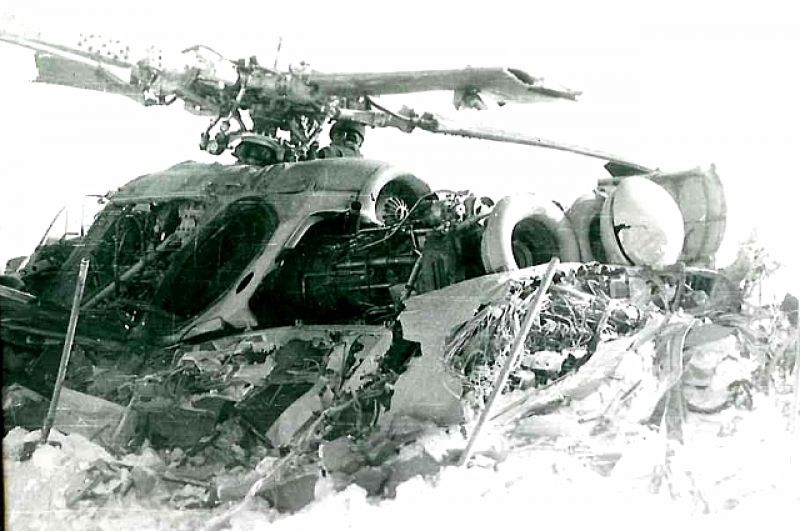 Упавший вертолет, Афганистан.