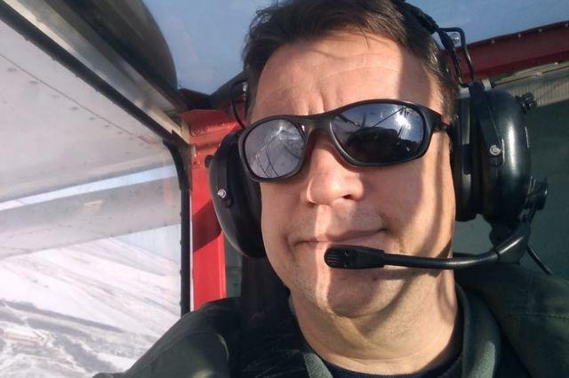 Сергей Минаев в одном из своих самолётов.