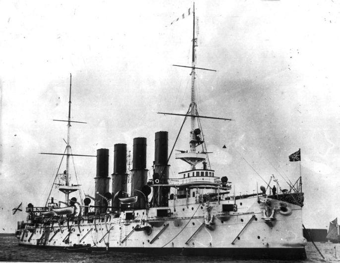 Русский крейсер «Варяг» в Кронштадте. 1901 год.