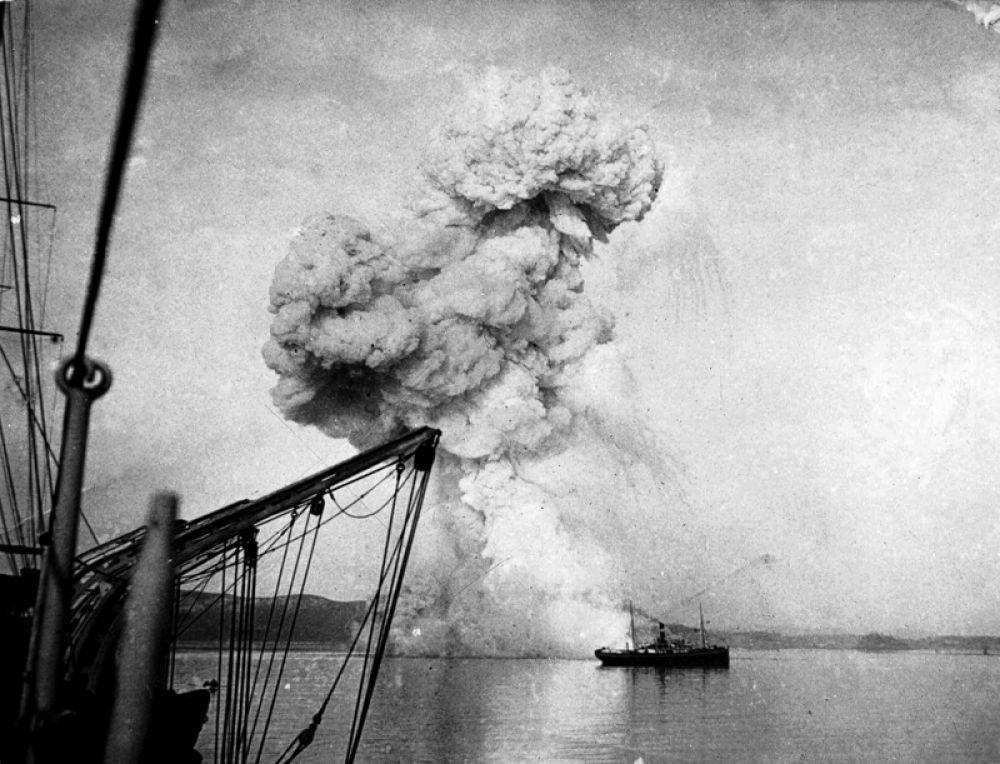 Взрыв канонерской лодки «Кореец».