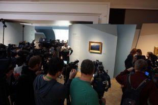 Картина Архипа Куинджи «Ай-Петри. Крым», которая была похищена из Третьяковской галереи в Москве 26 января