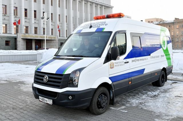 В Омске действует мобильная экологическая лаборатория.