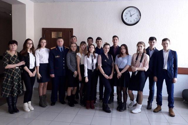 В Сладковском районе следователь рассказал школьникам о своей профессии