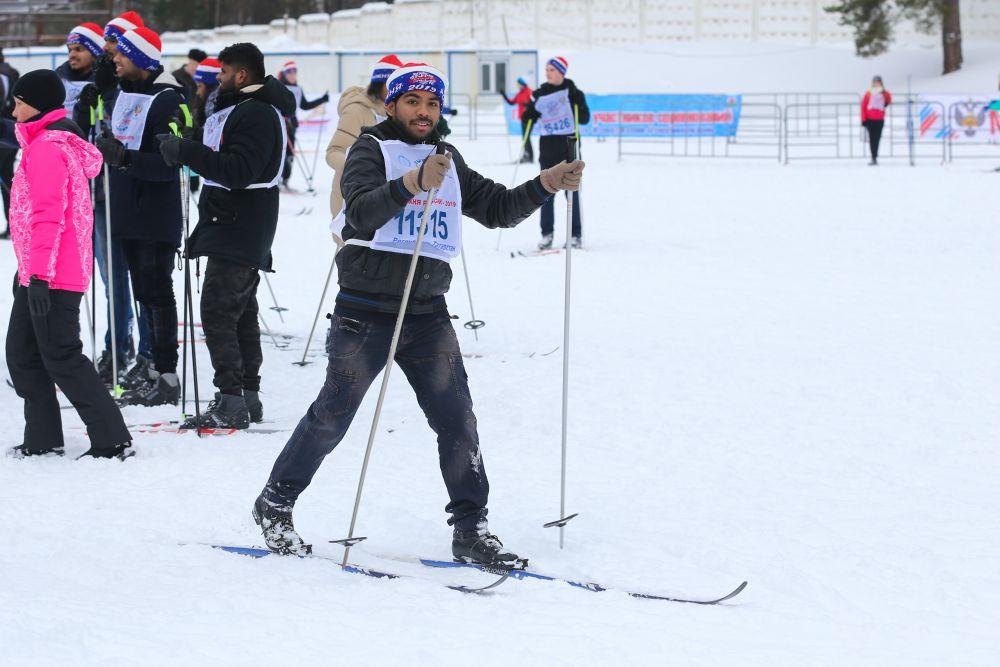 В забеге участвовали и иностранные студенты.