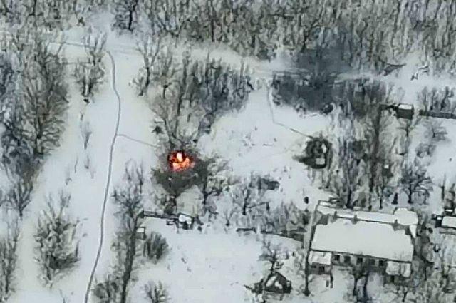 В штабе ООС рассказали, как уничтожили бронемашину противника на Донбассе