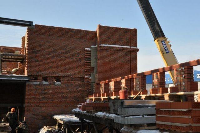 Стройплощадка на ул. Пушкина в Барнауле
