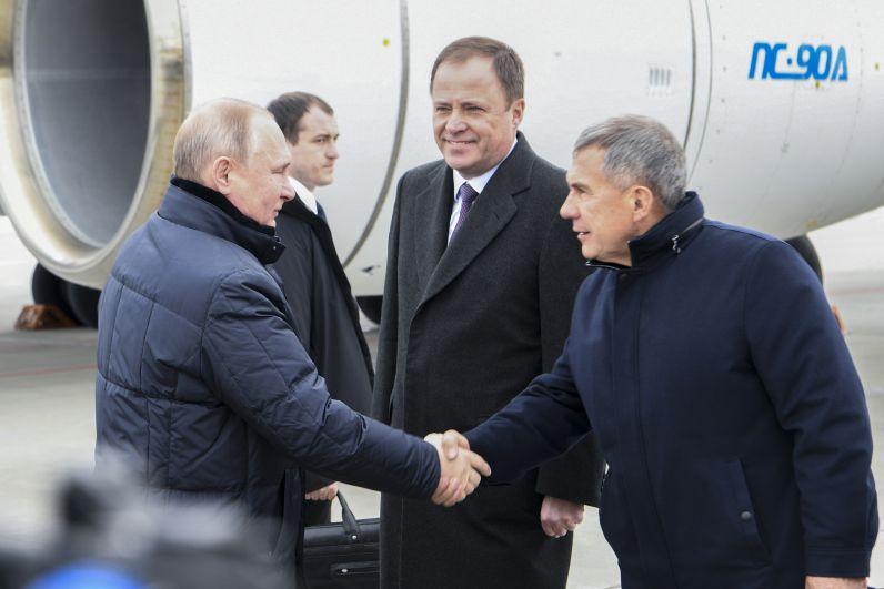 Владимир Путин приехал в Казань 12 февраля.
