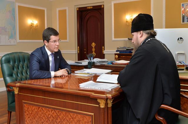 Дмитрий Артюхов встретился с архиепископом Салехардским и Ново-Уренгойским Николаем