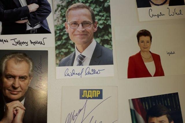 В коллекции юного орчанина - автографы мировых политиков и спортсменов.