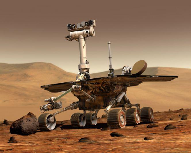 «Оппортьюнити» на Марсе в представлении художника.