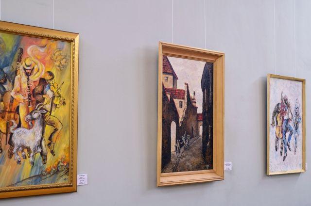 Выставка Менделя Футлика проходит в Библиотеке им. А. С. Пушкина.