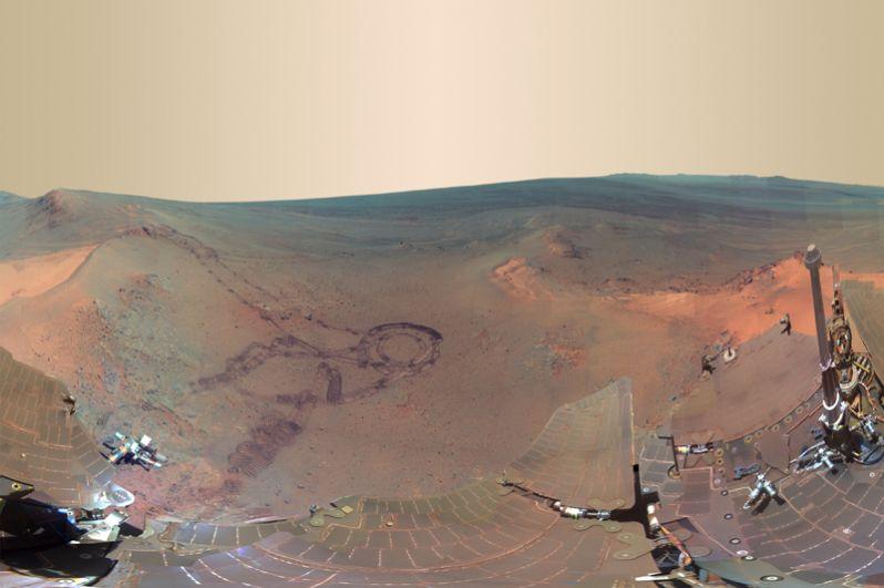Вид на Кейп-Йорк и на кратер Индевор.