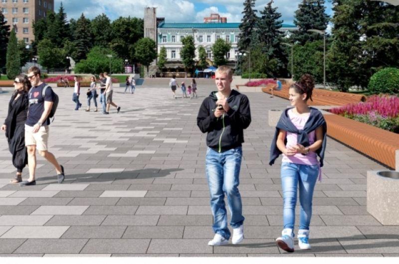 Фонтанная площадь на ул. Московской