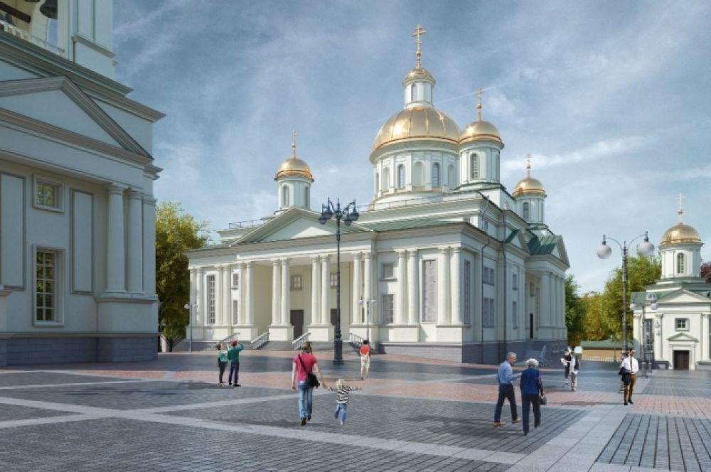 Соборная площадь на ул. Советской