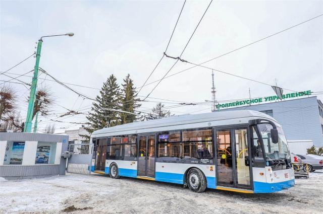 Новые низкопольные троллейбусы курсируют по маршруту в Чебоксарах