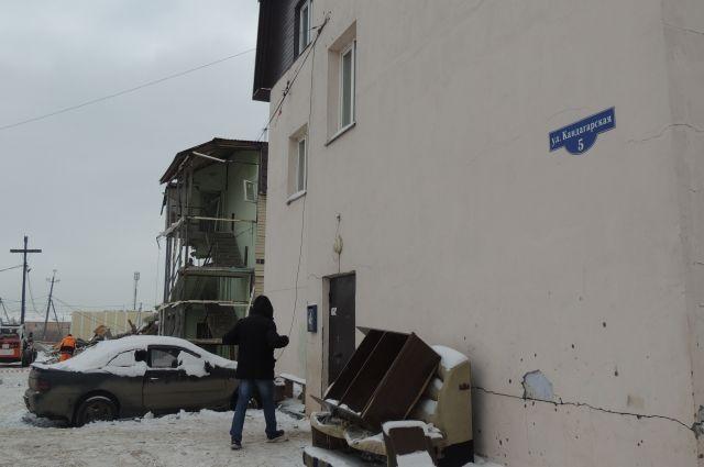Такой же многоквартирный дом, как и взорвавшийся.