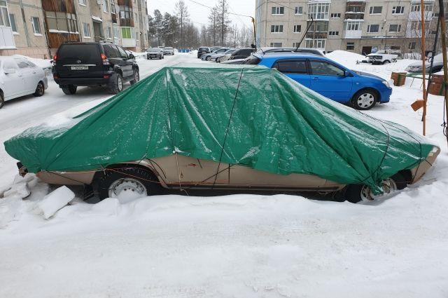 За три года из дворов Ноябрьска вывезли более 90 брошенных автомобилей
