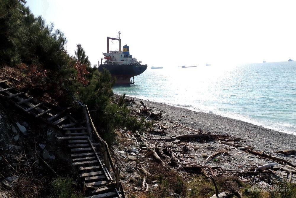 «Рио» вынесло на берег рядом с излюбленным местом отдыха «дикарей».