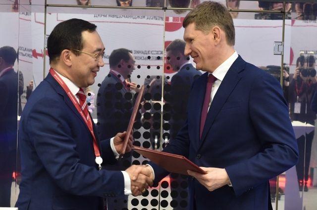 Главы Якутии и Пермского края уверены, что регионам есть чем поделиться друг с другом.