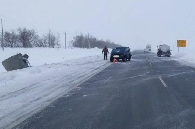В ДТП на трассе Казань – Оренбург столкнулись четыре автомобиля
