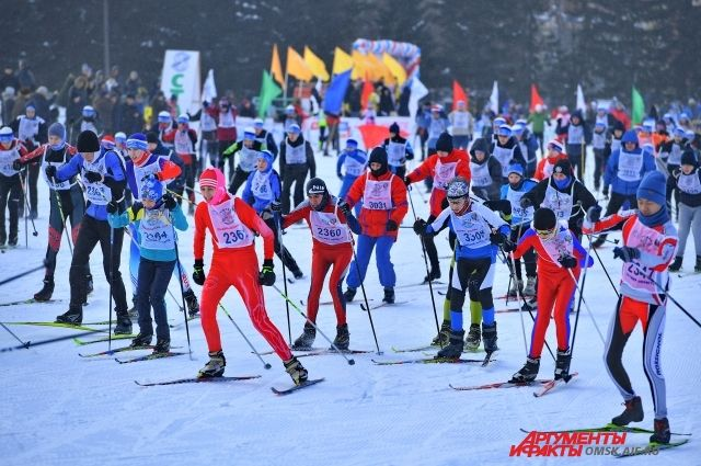 На «Лыжню России-2019» вышли около 8000 омичей