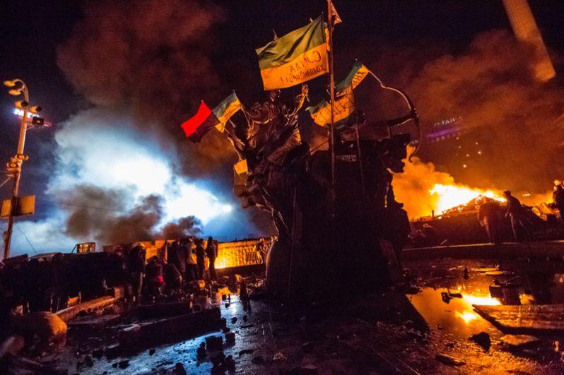 Сторонники оппозиции на площади Независимости в Киеве.