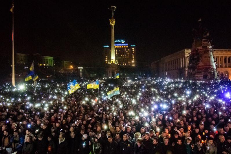На площади Независимости на траурном мероприятии в память о погибших.