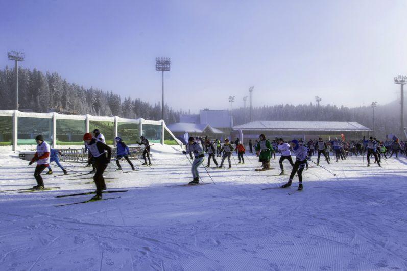 Сначала проводились забеги для спортсменов.