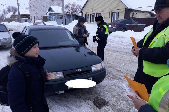В Соль-Илецке родители приняли участие в рейде с сотрудниками ГИБДД.