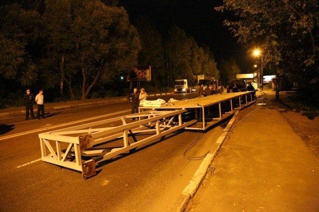 Рекламные конструкции продолжают исчезать с улиц Хабаровска.