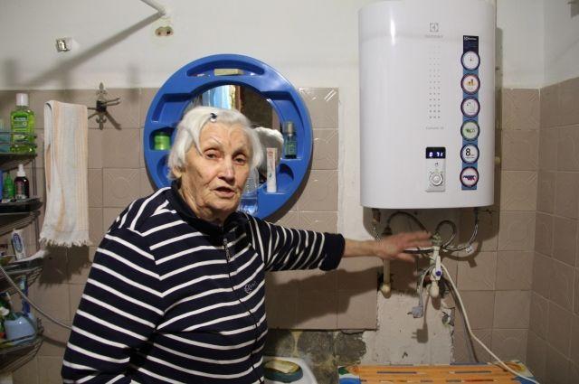 Марии Тимофеевой пришлось покупать электрический бойлер, так как газ отрезали.