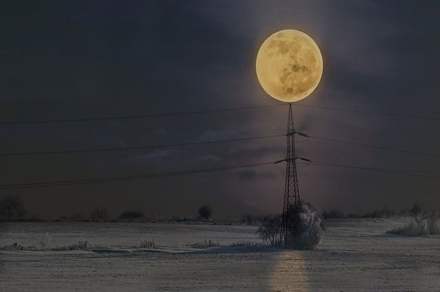 Суперлуние можно наблюдать две ночи.