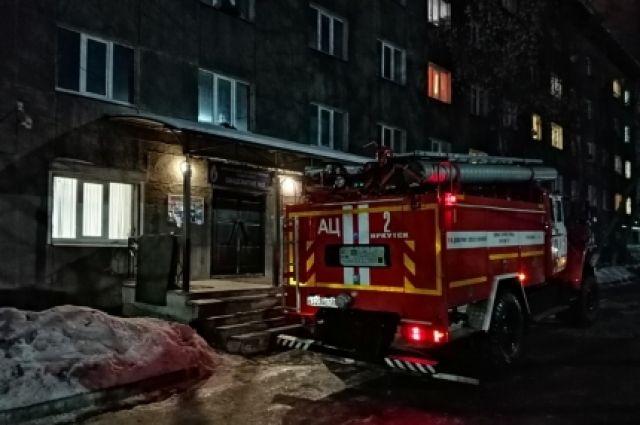 Пожар начался из-за включенного обогревателя.